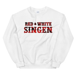 Sweatshirt - Red & White -...