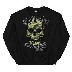 Men - Sweatshirt - Camo Skull