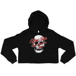 Women - Crop Hoodie - Skull