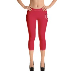 Women - Capri Leggings - Red